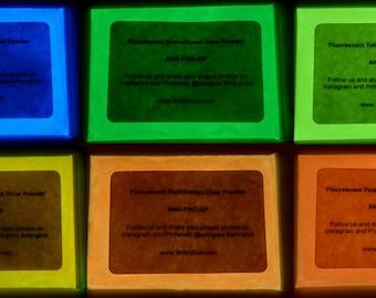 Fluorescent Glow Powder - 5+ Colors - Luminescent Pigment