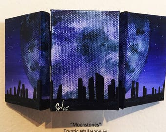 Miniature Painting Tryptic Wall Hanging