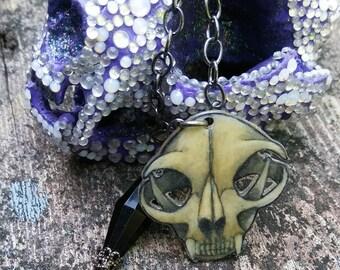 Cat skull necklace