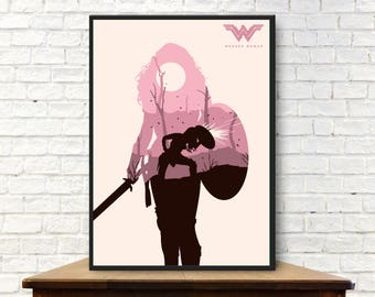 Wonder Woman Poster Wonder Woman Poster Minimalist Wonder Woman Print Wonder Woman Wall Art Wonder Woman Art Wonder Woman Gift