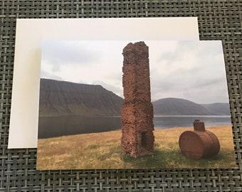 Blank Greeting Card - Flateyri, Iceland
