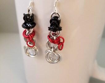 Christmas, holiday, snowman, earrings
