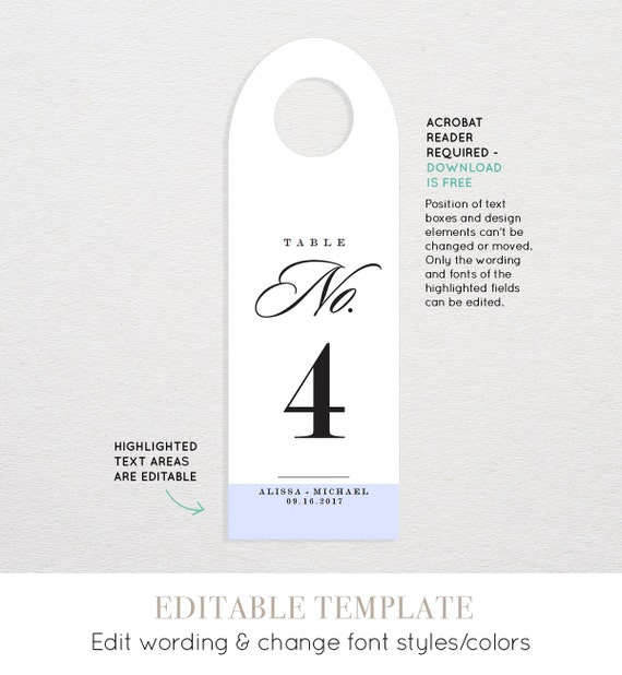 Wine Table Number Card Template Printable Wedding Wine Bottle