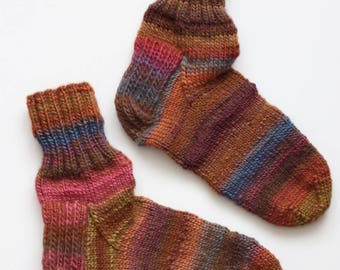 Hand-knitted Wool Socks RAINBOW By VidaFelt - Size 38-39 - Free Shipping!