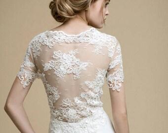 ANDA / silhouette wedding dress boho wedding dress, prom dress, Simple wedding dress, wedding dress Simple, lace wedding dress, lace sleeves