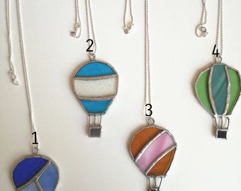 balloon necklace stained glass
