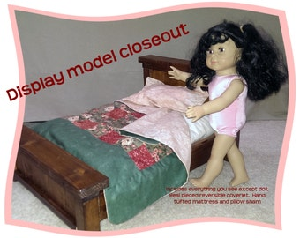 """Farmhouse doll bed for 18"""" dolls"""