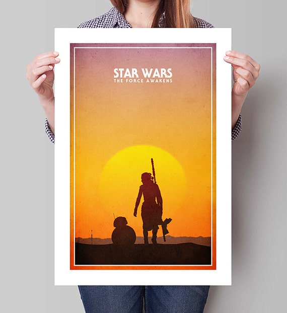 STAR WARS The Force Awakens Movie Poster Large Wall Art Rey