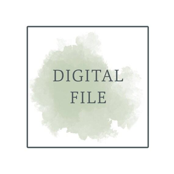 Digital File - Print at Home