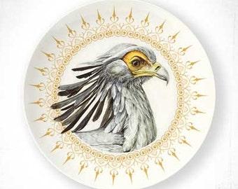 Secretary bird plate