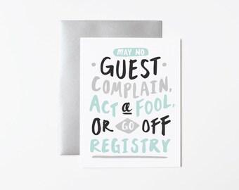 Funny Wedding Card- Smooth Wedding
