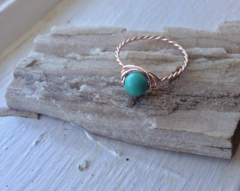 Natural Turquoise Jewelry Ring - Goddess Ring - Spiritual Gift Jewelry Ring - Spiritual Gift Turquoise Jewelry - Spiritual Gift Turquoise