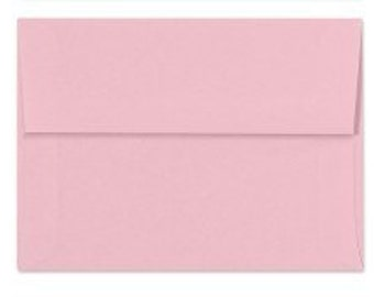 Light Pink Envelopes - Set of 18 Cotton Candy A7 Envelopes - Perfect for 5x7 Photos and Cards