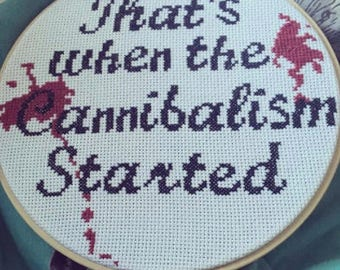 Cross-stitch pattern - Last Podcast on the Left Fan Art Project