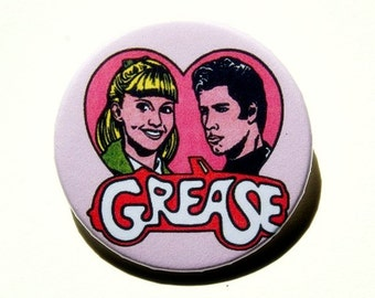 Grease - button badge or magnet 1.5 Inch