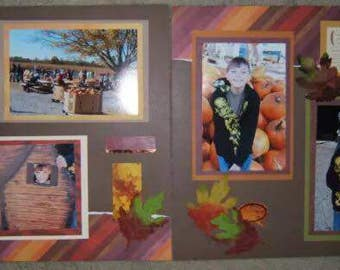 Fall scrapbook pages - Autumn scrapbook layouts - Fall Scrapbook layouts - Autumn Scrapbook Pages - Premade Fall pages - premade Autumn page