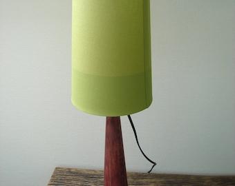 """Purple"" with big green shade lamp"