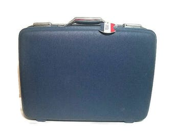 American Tourister Blue Suitcase Luggage Hard Shell Suitcase