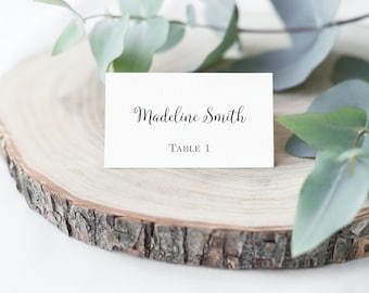 Editable PDF Wedding Place Cards Name Cards