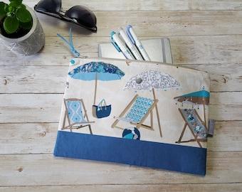 A5 Notebook case | planner pouch | large zippered bag | bullet journal accessories | beach ocean summer | leuchtturm1917 | sketchbook travel