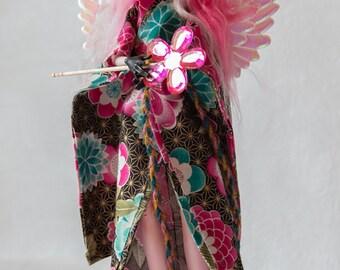 Custom One Of A Kind OOAK Doll Repaint - Angel Flower Princess