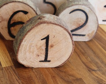 Rustic Table Numbers | Wooden Table Numbers | Rustic Wedding Table Numbers | Wooden Slice Table Numbers | Table Decor | Reception Decor
