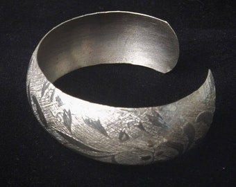 Signed Beau Sterling Silver Leaf Pattern 1950's Vintage Cuff Mid Century Bracelet Fine Jewelry Gift For Her Best Deal on Etsy