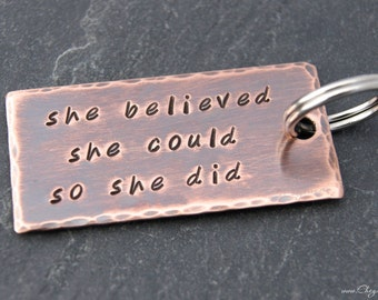 Inspirational Keychain, Going Away Gift for Friend, Coworker, Boss, Boyfriend, New Job Gift, Graduation Gift for Daughter, Motivational Gift