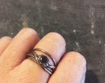 Organic copper wrap ring//Size 8 1/2