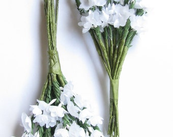 Lucky white heather etsy white heather two sprays of artificial heather 12 stems in each spray suitable for wedding corsage or separated into sprigs for crafts mightylinksfo