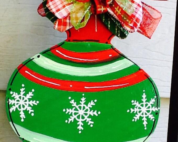 Ornament door hanger, christmas holiday door hanger, holiday door hanger, family door hanger, family ornament door sign, christmas  sign,