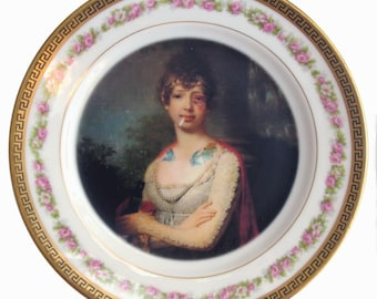 Katherine the Terrible Portrait Plate 6""