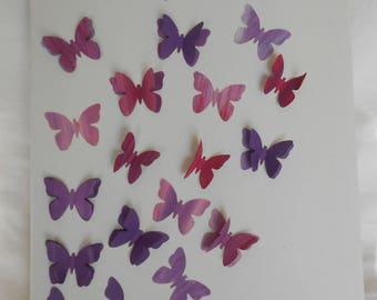 Flight of butterflies painting