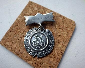 Médaille d'argent Vintage - Seymour Levy - évaluation environnementale - évaluation environnementale