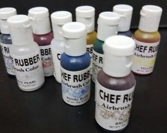 Chef Rubber air brush color  0.5 oz