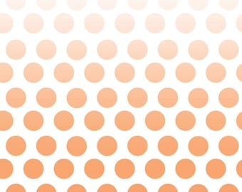 Cotton Fabric Polka Dots Ombre Fabric - Riley Blake Designs Ombre Fabric - Polka Dot Fabric - Cotton Fabric Quilt Fabric - Orange Fabric