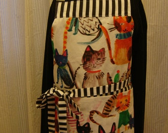 ARTI Kitchen Towel APRON , Colorful with CATS