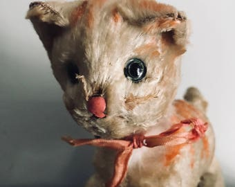 Antique Cat, wind up, Mechanical toy.