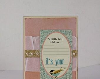 Card - Birthday - A Little Bird Told Me