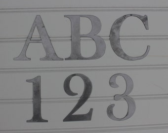 Metal Letters: Individual Letters and Numbers