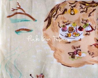 Sugarplum - Mice in Cream - Heather Ross for Windham Fabrics - 50165-2 - 1/2 Yard