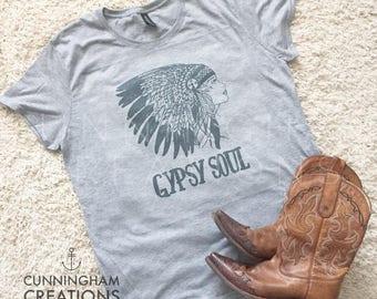 Gypsy Soul Head Dress Triblend TShirt
