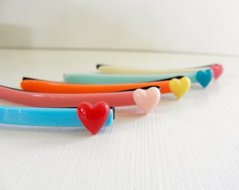 Large size retro heart cabochoun hair pin