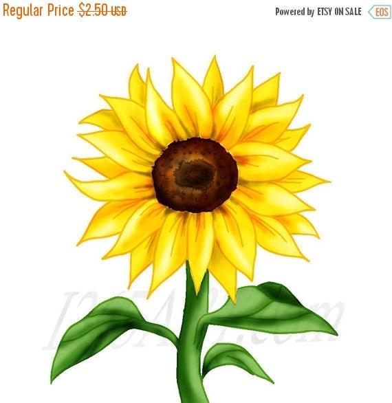 50 off beautiful sunflower clipart sunflower clip art rh etsy com sunflower clipart transparent sunflower clipart transparent