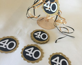 40th Birthday Anniversary Party Tags Party Favors Pick Your Colors