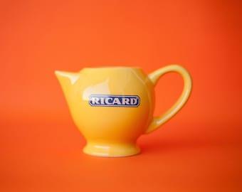 pichet vintage, Ricard, Made in France, cruche, carafe ricard, pichet individuel, apéritif , déco bar, vaisselle française, pitcher, jug