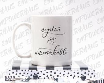 "Cancer Survivor Gift - ""NEGATIVE AND UNREMARKABLE"" Coffee Mug - Cancerversary - Bca - Chemo Care Package - Cancer Survivor - Cup"