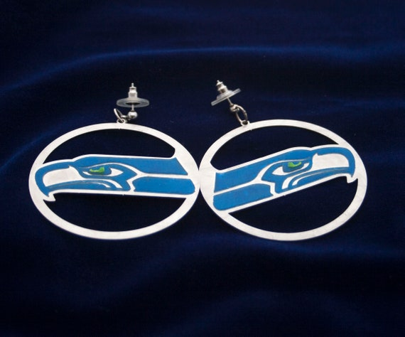 Limited Edition SeaHawks Hoop Earrings