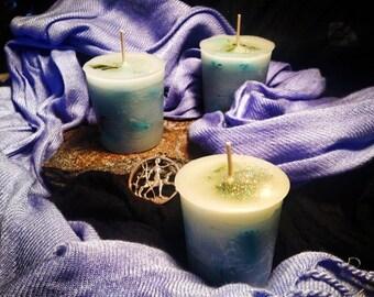 ARTEMIS Votive Candle Set/4 - MOON Goddess Diana Queen of the Hunt