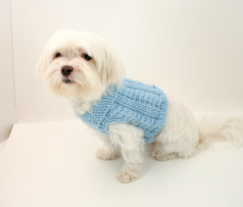PDF DIGITAL PATTERN:Knit Dog Clothes Pattern,Knit Dog Sweater ...